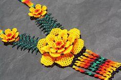 XL HUICHOL PEYOTE NECKLACE MEXICAN NATIVE SPIRITUAL NIERIKA JEWELRY FOLK ART NEW | eBay