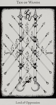 Image result for 10 of wands hermetic