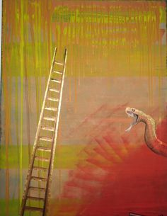 Snakes and Ladders  36x48inch acrylic and oil 120.00 NZD plus freight email  spittlehouse.julie@gmail.com