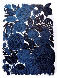 Love the shades of blue and the texture portrayed!  /via tumblr No.1248