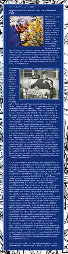 September 2009 / Fragrance : the History of Yuri Gutsatz