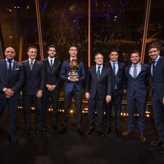 Florentino Pérez with Real Madrid Legends