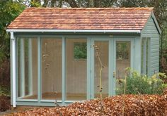 3.0 x 3.6m Burnham StudioSage Valtti Paint System, with Guttering and Cedar Shingle Roof
