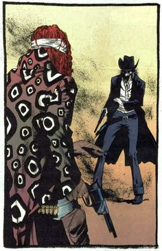 """""""Shade Showdown"""" from Shade, the Changing Man vol.2 #16 (DC, 1991) by Peter Milligan, Chris Bachalo and Rick Bryant Mature Readers Shade faces off against the American Scream in the first mega-story arc of the series that would become on the first books in DC's new Vertigo imprint. Trademarks: Crazy covers, a memorable supporting cast, and Shade """"changing"""" each time Milligan killed him off, at one point turning the book into Shade the Changing Woman."""