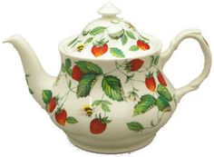 Alpine Strawberry Roy Kirkham Teapot - My favorite summer dishes/tea set.
