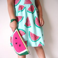 Latest fashion trend... watermelon clutches. Didn't you hear?  #watermelonparty #yukiswatermelonparty