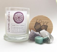 Crown Chakra Candle-Meditation Candle-Healing Candle- Enlighten-Yoga Candle-Higher Self