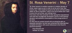 Official Prayer of St. Rose Venerini