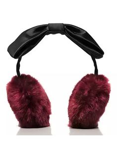 Kate Spade earmuffs with satin bow