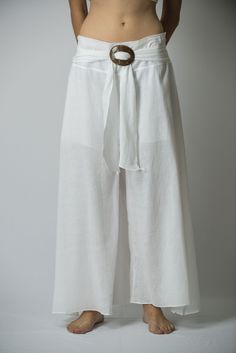 Women's Thai Harem Palazzo Pants in Solid White – Harem Pants