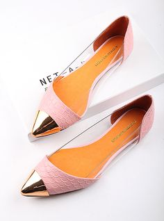 $48 flat shoes temperament leather skin pointed-ZZKKO
