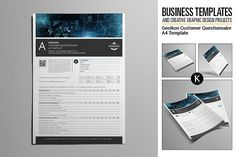 Genikon Customer Questionnaire by Keboto on Business Brochure, Business Card Logo, Questionnaire Template, Stationery Templates, Graphic Design Templates, Creative Sketches, Paint Markers, Pencil Illustration, Vector Icons