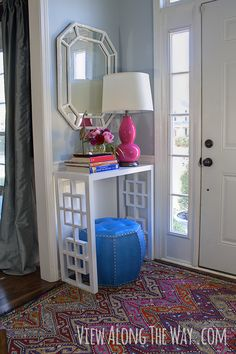 Looks like the headboard I made! DIY fretwork console table! Come see how to make one!