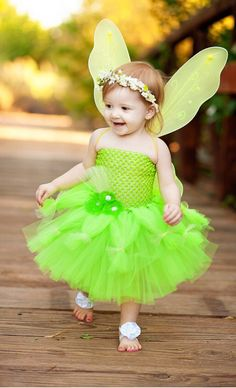 Tinker Bell Dress Tinkerbell Costume Princess Dress by traceoflace