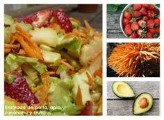 Ensaladas: un mundo de sabores más allá de la mixta.Ensalada de zanahoria, repollo blanco y choclo grillado con aderezo de curry