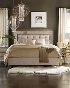Hooker Furniture - Ilyse Mirrored King Bed, sale $2549.25 (doesn't seem to come in queen size)