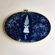 """Niñas orgánicas Erika Lujano#cyanotype #blueprint #sunprint #erikalujano #botanicalart #blue #leaf"""