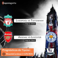 Prognóstico do nosso Lucrativo Tipster Ricardo Cardoso (+12%ROI) para os jogos de hoje da Premier League!  Partilha connosco os teus palpites e boas apostas!  http://www.apostaganha.pt/2015/02/10/liverpool-vs-tottenham-prognosticos-apostas-3/  #apostasdesportivas #apostasonline #futebol #desporto #premierleague #arsenal #leicester #tottenham #liverpool