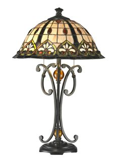 """Florence 24.8"""" H Table Lamp with Bell Shade"""