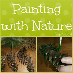 painting with natural objects