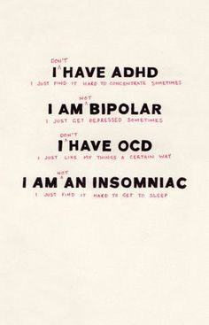 ... Illness, Mental Disorders