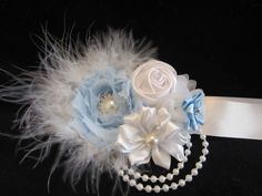 Stunning Wedding Dress Sash Bridesmaid Formal Christening Flower girl Flowers   eBay