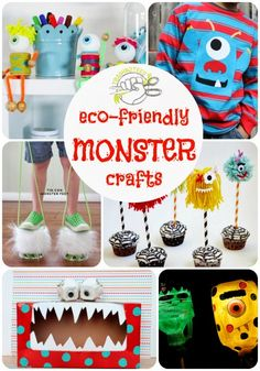 Monster crafts from recycled materials!