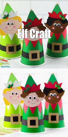 Just in time for the holidays, preschoolers, kindergartners, and older kids will enjoy making this cute DIY Paper Cup El Elf Christmas Decorations, Christmas Paper Crafts, Christmas Activities, Kids Christmas, Handmade Christmas, Holiday Crafts, Christmas Ornament, Natural Christmas, Paper Cup Crafts