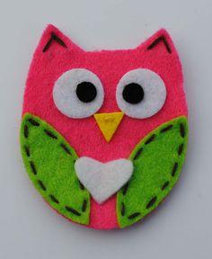 Be My Valentine  Hot Pink Owl by peanutfeet on Etsy, $7.00