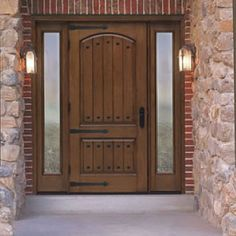 Front door maybe not sure yet but something rustic like this. Wood Front Doors, Front Door Entrance, Rustic Doors, Wooden Doors, Rustic Shutters, Patio Doors, Fiberglass Entry Doors, Front Door Design, Exterior Doors