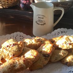 Kingsbrae Arms (@Kingsbrae) | Morning scones warmed in the sunlight Scones, Sunlight, Arms, Drink, Ethnic Recipes, Food, Beverage, Sun Light, Arm