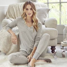 Pointelle Lace Pyjama Top | The White Company - top and bottoms xx