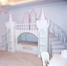 maxtrix : Castle Bed Light Pink And White | Sumally