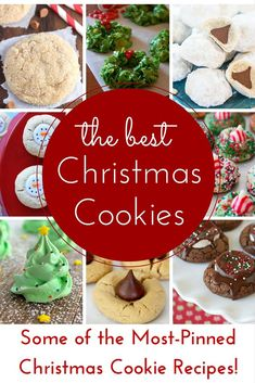 These Christmas cookies are crowd pleasers! Thats right! You guys know that I am an avid fan of Pinterest.With over 3.5 million followers, I am there all the time and I have seen so many great Christmas cookie recipes. I thought Id share some of the m