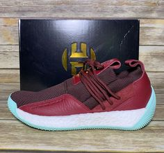 cheap for discount 1a764 842d2 Details about NEW Adidas Performance James Harden LS 2 Lace Basketball  CG6277 Maroon Size 8.5