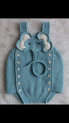Diy Crafts - crochet elephant dress for babies Elephant Dress, Crochet Elephant, Crochet For Boys, Crochet Baby, Diy Baby Socks, Onesie Pattern, Diy Crafts Crochet, Baby Sweaters, Baby Patterns