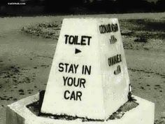 try to do it while seated in your car