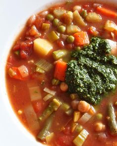 Spring vegetable soup recipe