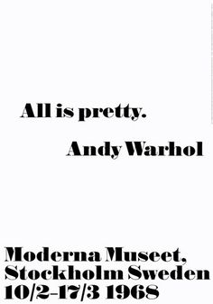 All is pretty by Andy Warhol - art print from King & McGaw