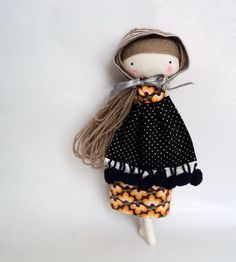 matryoska rag doll  babushka folk doll cloth by lassandaliasdeana, $35.00