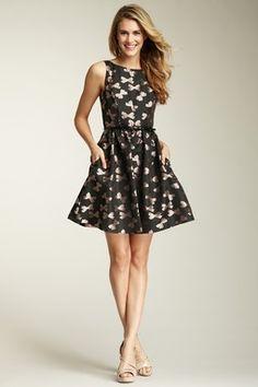 bow print party dress jessica simpson