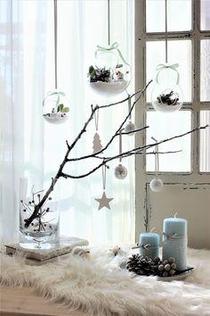 クリスマス飾りを簡単リメイク雪景色ディスプレイとテラリウムクリスマスバージョン