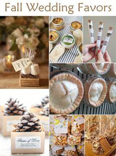 great fall wedding favor ideas for autumn brides