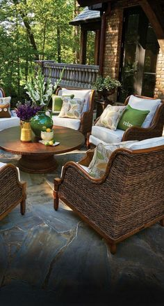 Incredible Backyard Retreat Shed Makeover Design Ideas - Page 29 of 41 Outdoor Rooms, Outdoor Dining, Outdoor Decor, Outdoor Seating, Dining Area, Porch Furniture, Outdoor Furniture Sets, Furniture Design, Garden Furniture
