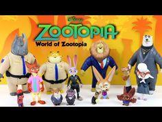 Disney Zootopia Toys Character Set - World of Zootopia Animals ...