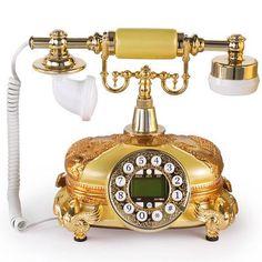 LNCHome Retro Vintage Push Button Dial Desk Telephone