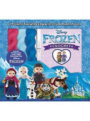 Your little Frozen fan will love crocheting iconic cuddly characters from their favorite hit Disney movie. Complete with supplies for twelve cuddly crochet pals, this kit will provide hours of Frozen fun. Disney Crochet Patterns, Amigurumi Patterns, Crochet Dolls, Crochet Kits, Crochet Ideas, Annie's Crochet, Crocheted Toys, Frozen Crochet, Frozen Characters