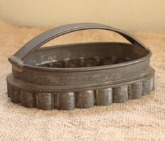 Rare LARGE Antique Tin Biscuit Pastry Cookie by ElegantFarmhouse