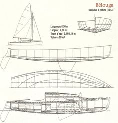 Plans du Belouga, architecte:  Eugène Cornu