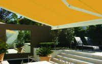 Markilux 3300 patio awning - suitable for heavy duty use where a more traditional squared look is required and makes it suitable for installation on sites where design requirements exceed cost consideration.